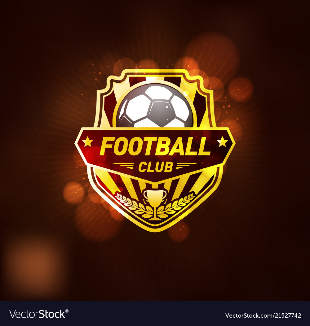 Football club logo design template.