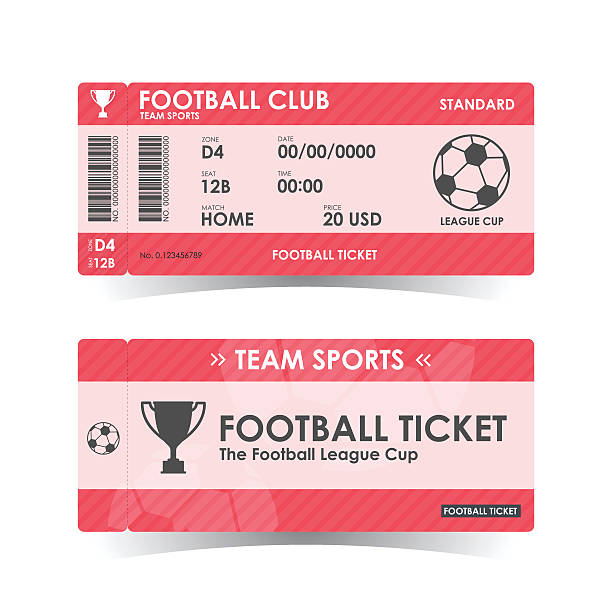 Best Football Tickets Illustrations, Royalty.
