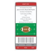 Football Ticket Template.