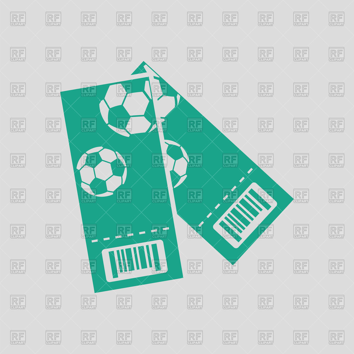 Football tickets on gray background Stock Vector Image.