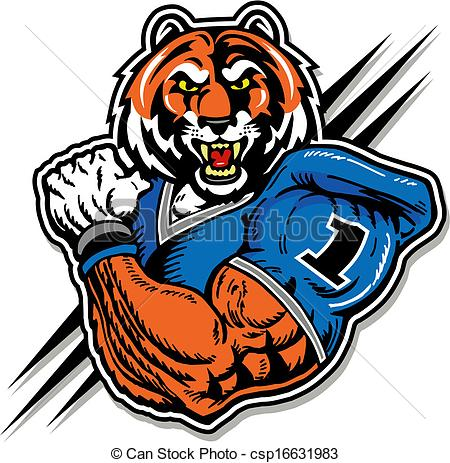 Vector of tiger in football uniform csp16631983.