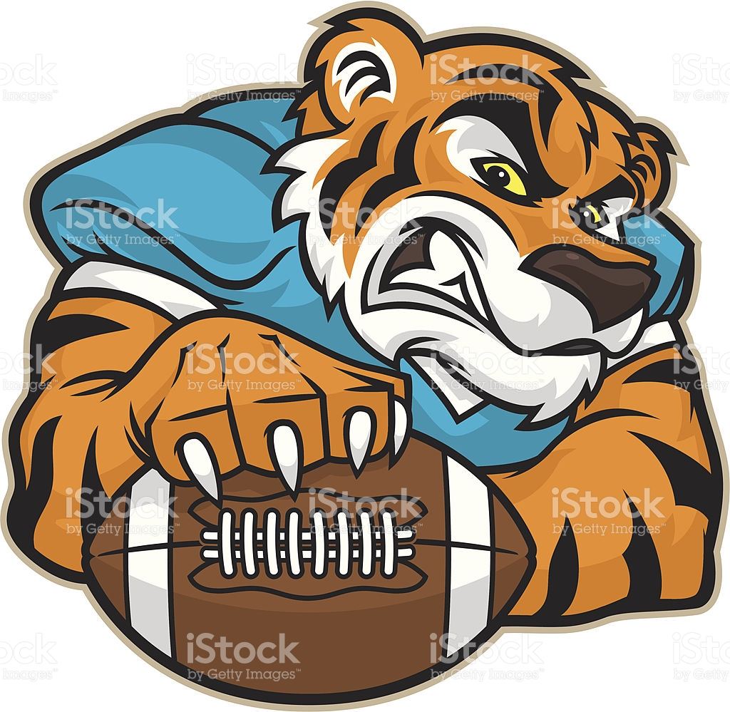 Tiger Football Mascot stock vector art 165631950.