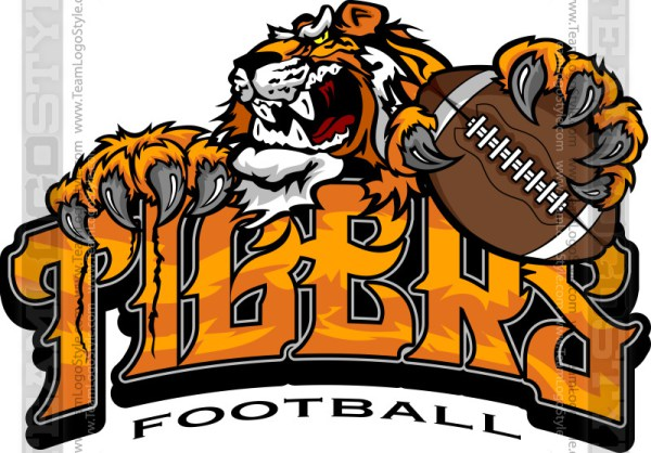 Tiger Football Logo.