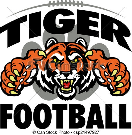 Football Tiger Clipart.
