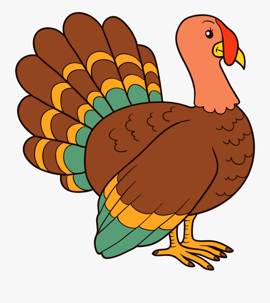 Turkey Playing Football Clipart.