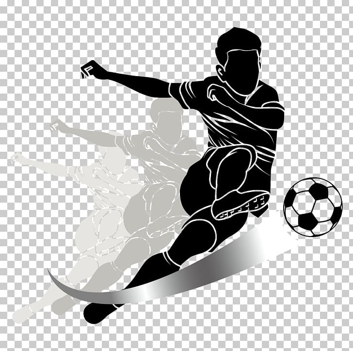 Football Player Kick Sport PNG, Clipart, Ball, Black And.