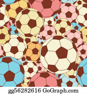 Seamless Football Wallpaper Clip Art.