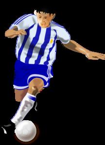 Footballer Clipart.