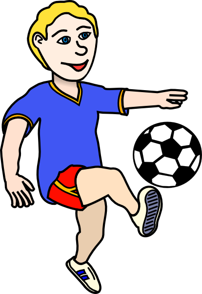Football players clipart images.
