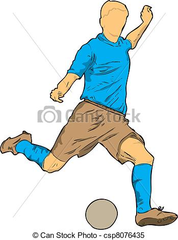 Footballer Clip Art.
