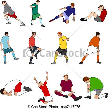 Footballers Clipart and Stock Illustrations. 88,299 Footballers.