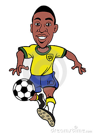 Footballer Cartoon Illustration Royalty Free Stock Image.