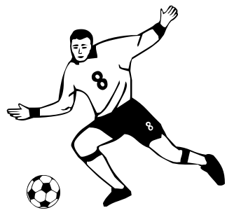 Football players clipart gif.