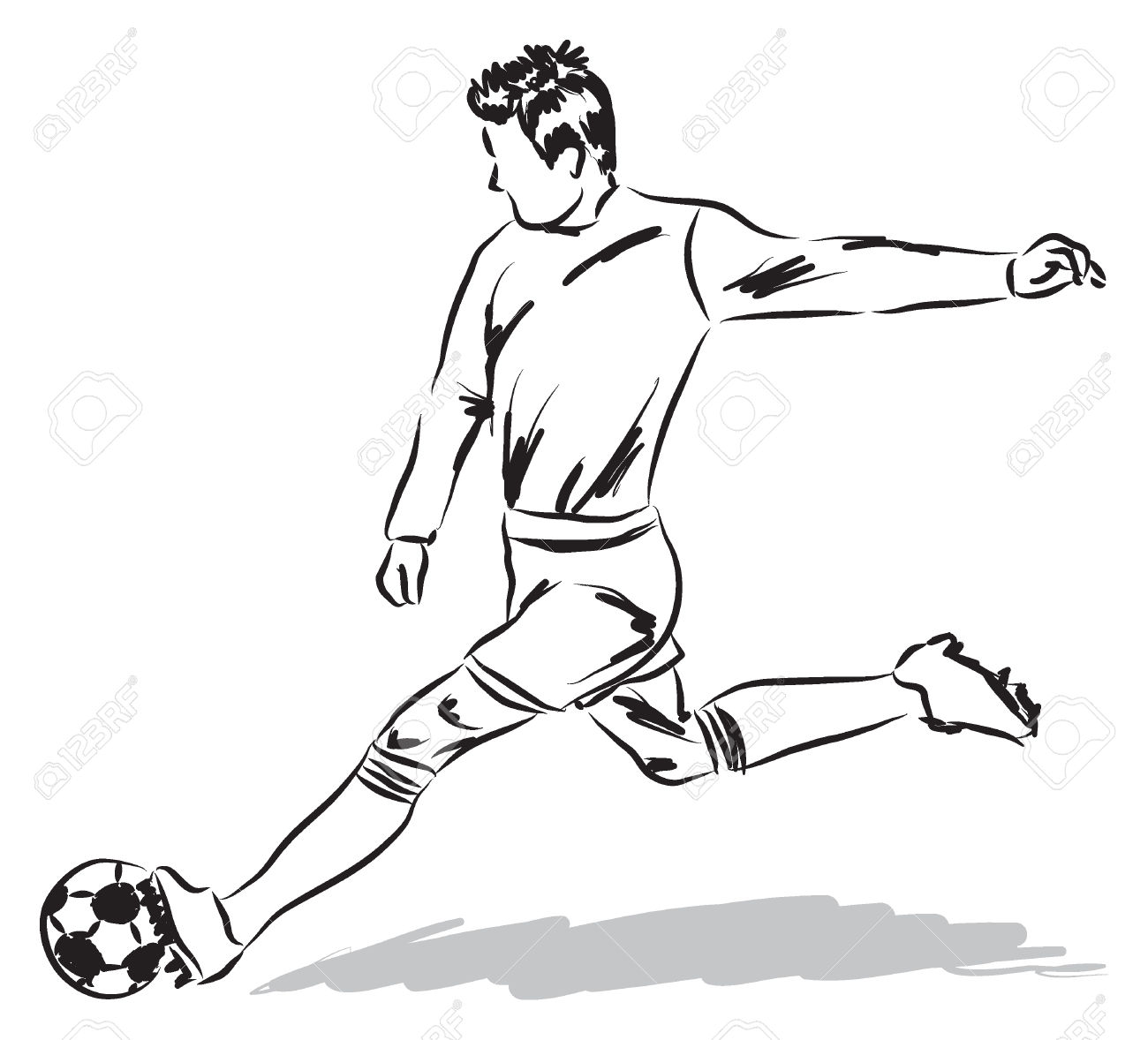 Football Soccer Player Illustration Royalty Free Cliparts, Vectors.