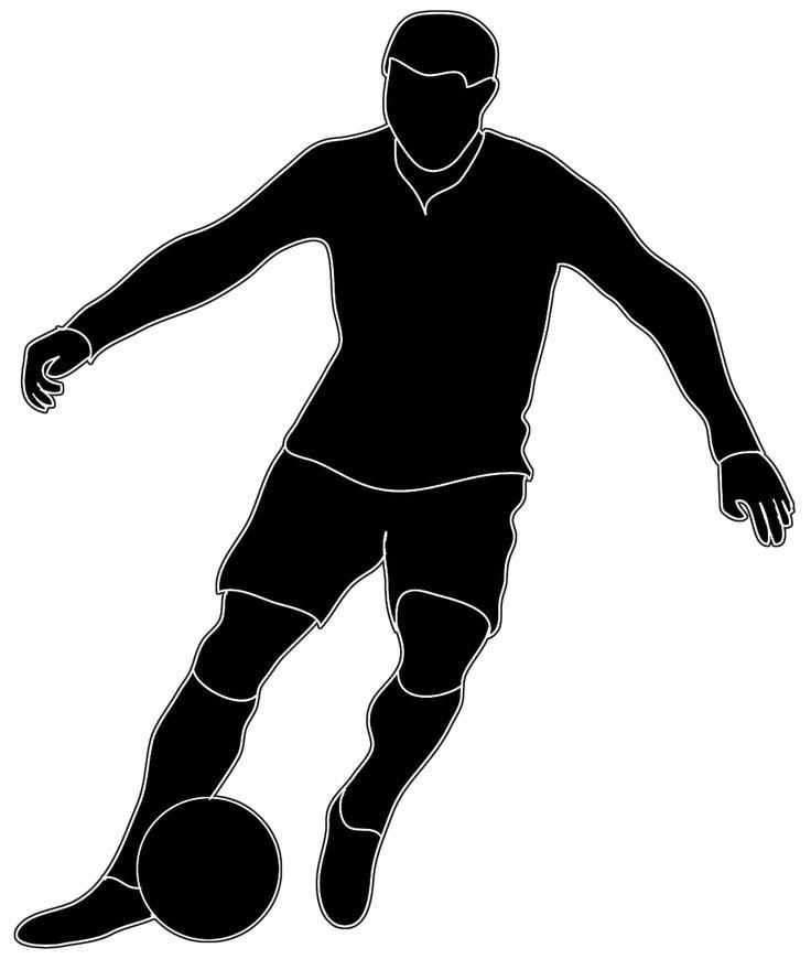World class footballers clipart.