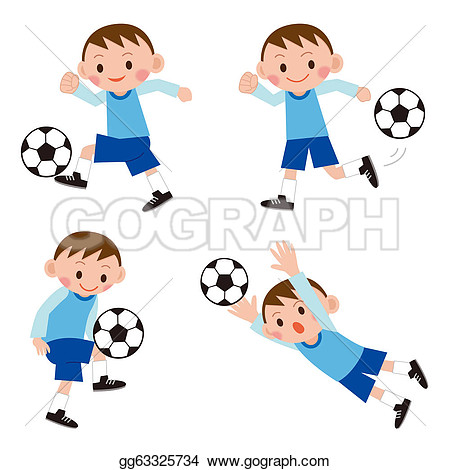 Clipart Footballer.
