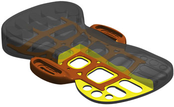 Nobile IFS Pro Integrated Footbed System Twin.