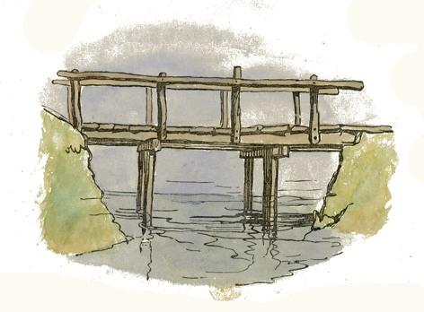 Clip Art Bridge Drawing.