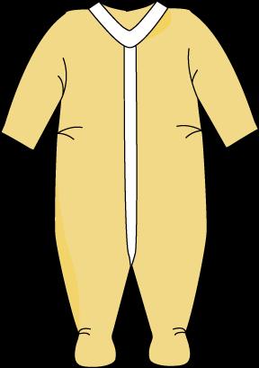 Baby Clothing Clip Art.