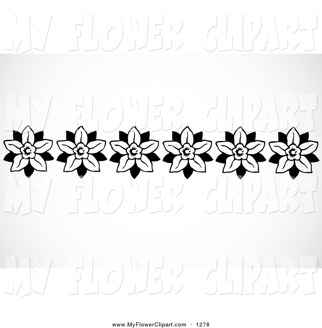 Royalty Free Footer Stock Flower Designs.