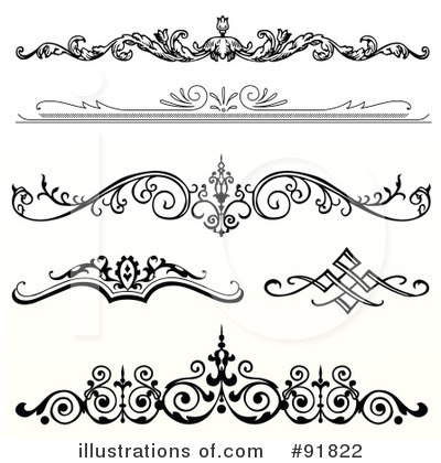 Heart Footers Clipart.