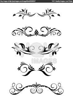 Free clipart headers and footers.