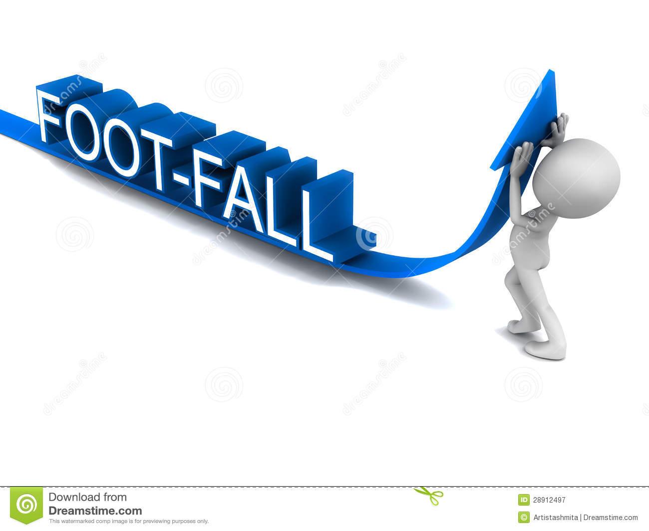 Increase Footfall Royalty Free Stock Photography.