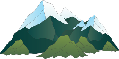 Mountain Range Drawing.