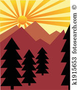 Foothills Clip Art Vector Graphics. 18 foothills EPS clipart.