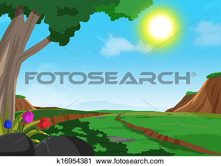 Clipart of Foot Hills k16954381.