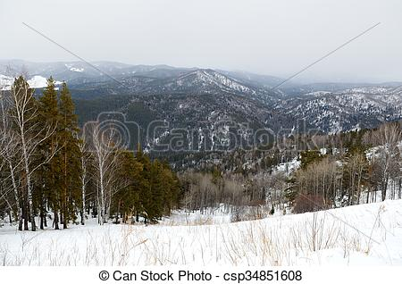 Stock Photography of Altai Foothills.