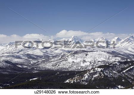 Stock Images of alberta, canada; view of the front range mountains.