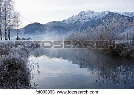 Stock Photo of Germany, Bavaria, Kochelsee, View of hut besides.