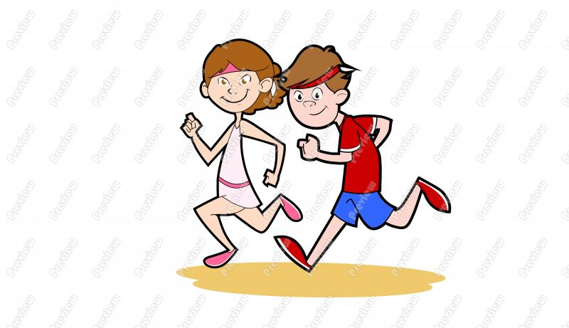 Person Jogging Clipart.