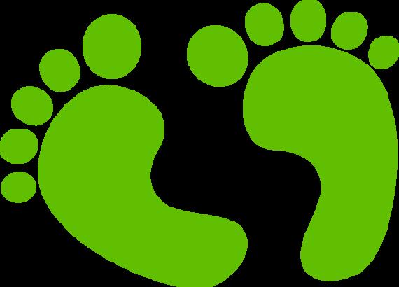 Footprint clipart.