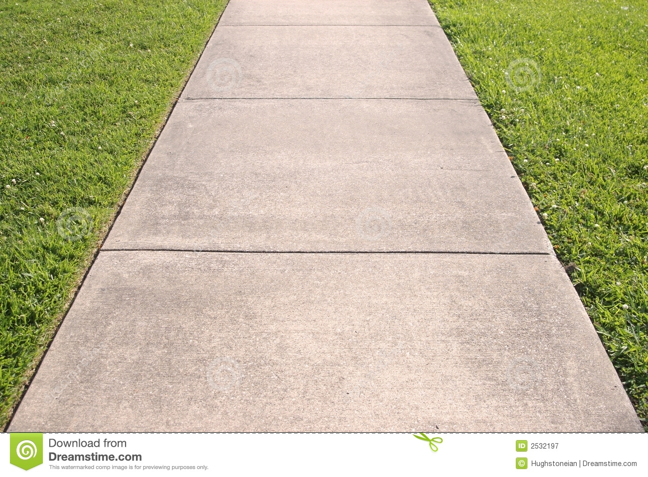 Abstract Of Sidewalk And Grass Royalty Free Stock Photography.