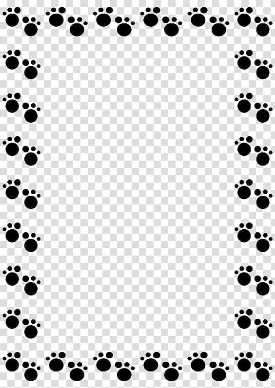 Black paw prints frame, Pug Dachshund Cat Puppy , Footprints.