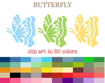 50 Colors Digital BABY FOOTPRINT Clipart Footprint Clipart.