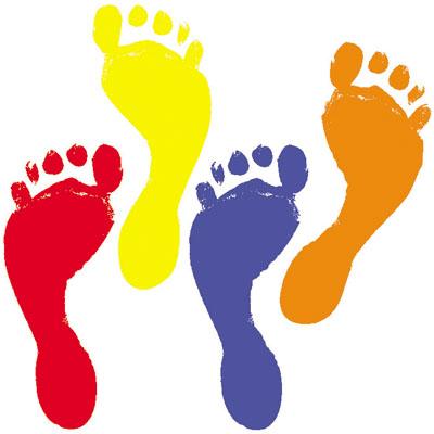 Free human footprints clip art.