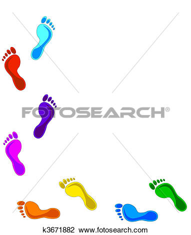 Clipart of Footprints.