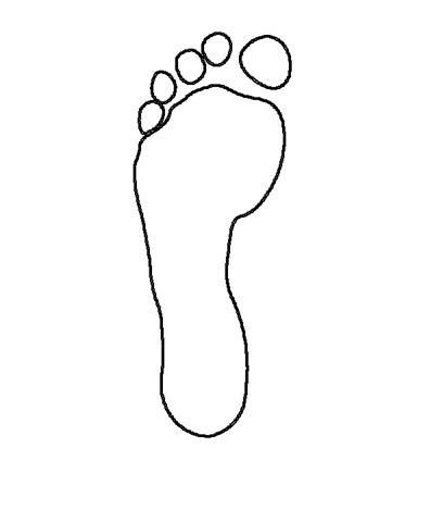 Free Outline Of Footprint, Download Free Clip Art, Free Clip.