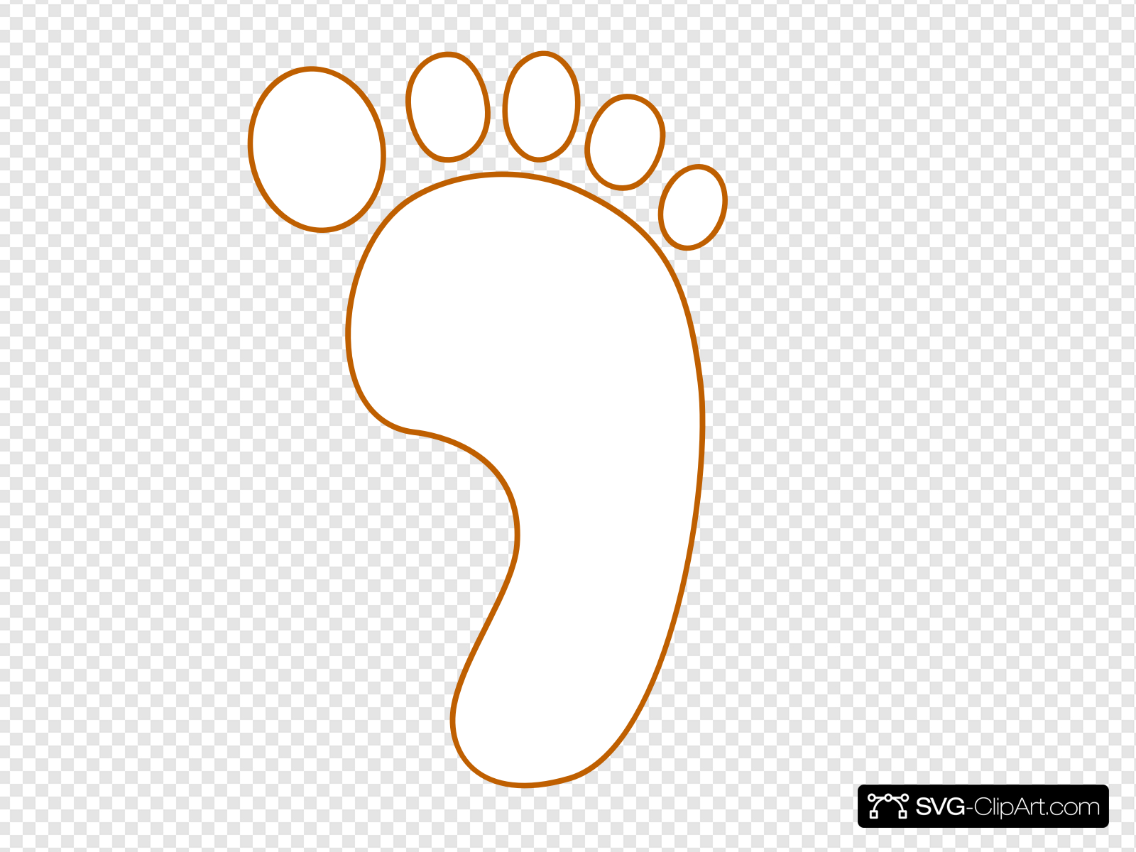 Footprint Clip art, Icon and SVG.