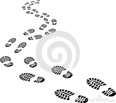 Walking Footprints Clip Art.