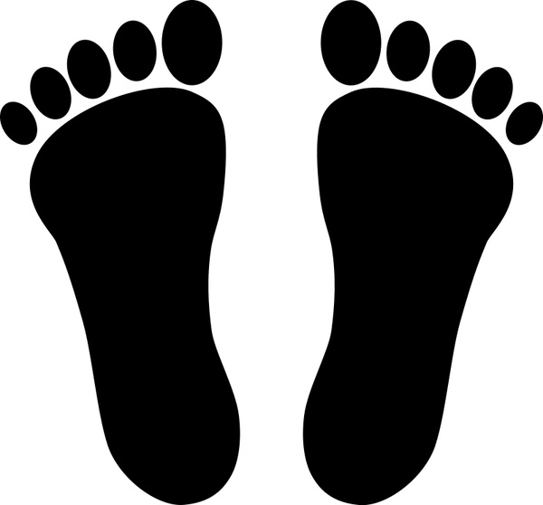 Two footprints black Free vector in Open office drawing svg ( .svg.