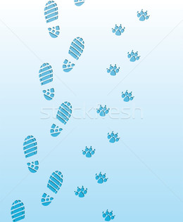 Download footprints in snow vector clipart Footprint Royalty.