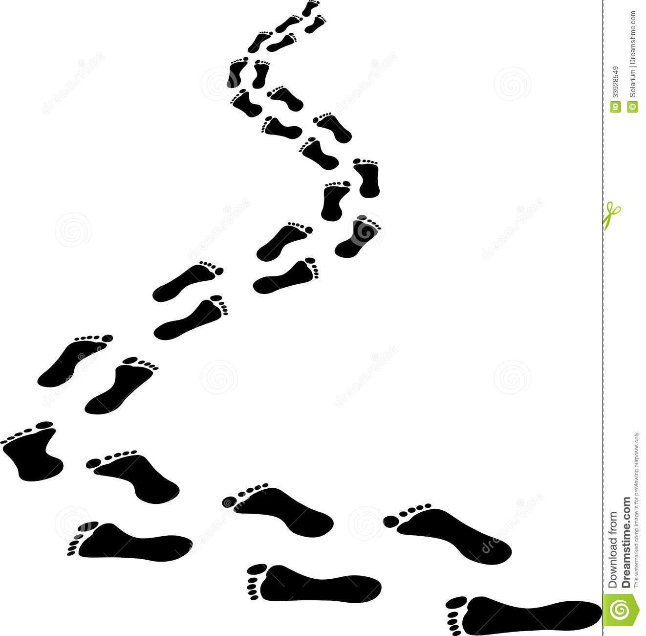 Jesus footprints in the sand clipart.