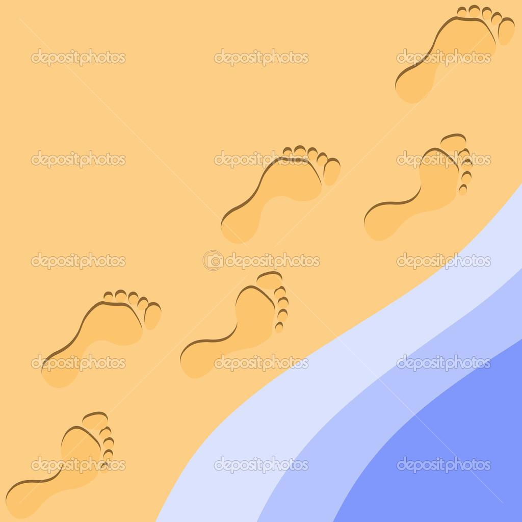 Footprints in the Sand Clip Art Free Download.