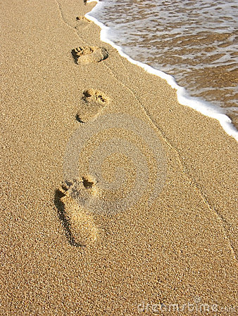 Footprints In The Sand Clipart.