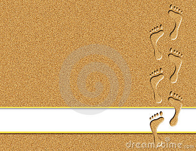 Footprints in the Sand Clip Art Free.