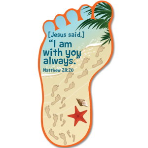 Footprints Story Card Bookmark for Kids.